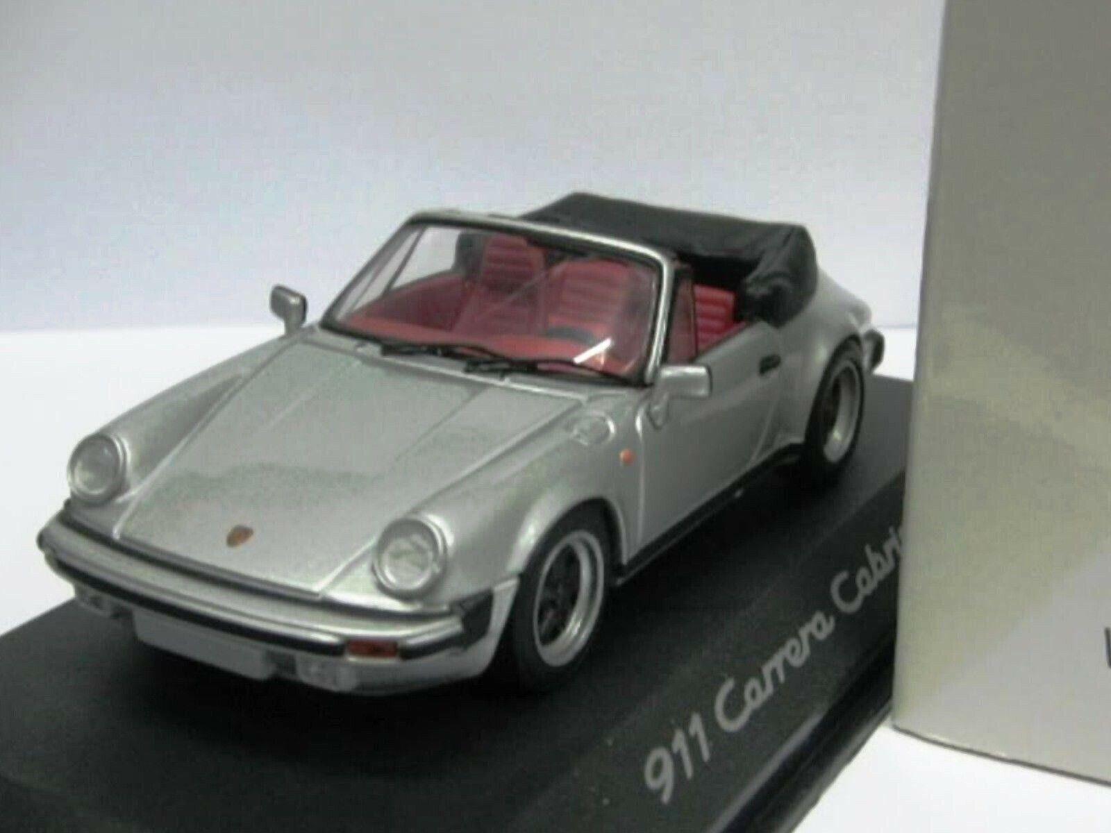 Wow extremadonnate raro Porsche 930 1983 911 3.0 Sc G-Modelo de argento 1 43 Minichamps