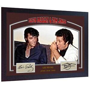 Elvis-Presley-Tom-Jones-signed-print-photo-autograph-poster-Music-Framed