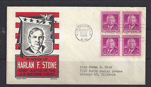 965-block-of-4-FDC-with-Cachet-Craft-cachet