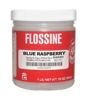 Cotton Candy Flossine, 1 Lb Jar, Blue Raspberry, Free Shipping In Usa