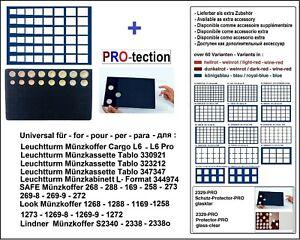 Look-12332-48-Plateau-pour-Monnaies-Bleu-pour-Jeux-de-Pieces-Schutzschuber-Pro