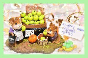 ❤️Wee Forest Folk M-187a Adam's Apples LIMITED to 750 Halloween Green WFF❤️