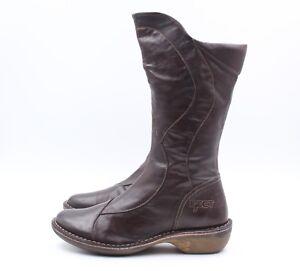 EJECT-Stiefel-Boots-Gr-37-Braun-Leder-Echtleder-Stiefeletten-NEU