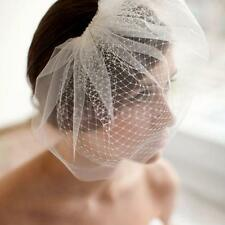 Fashion Wedding Headdress Bridal Net Birdcage Face Veil Hair Comb Costume