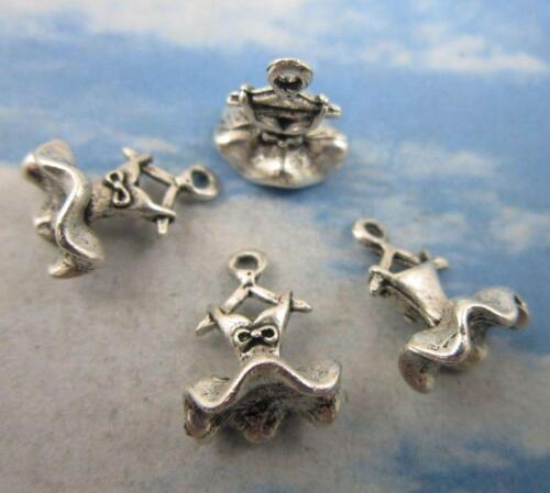 Free shipping 40//80pcs Retro style dress alloy charms pendant 13x10mm
