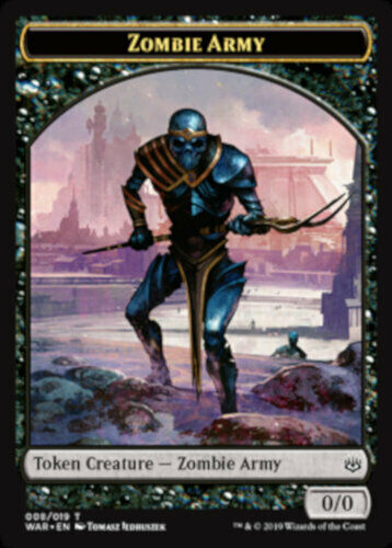 MTG War of the Spark 4x Zombie Army Token NEW