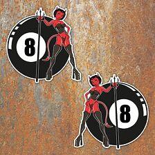 8 Ball Demon Devil Hot Rod Stickers Vintage Motorcycle Custom Car Vdub Van Decal