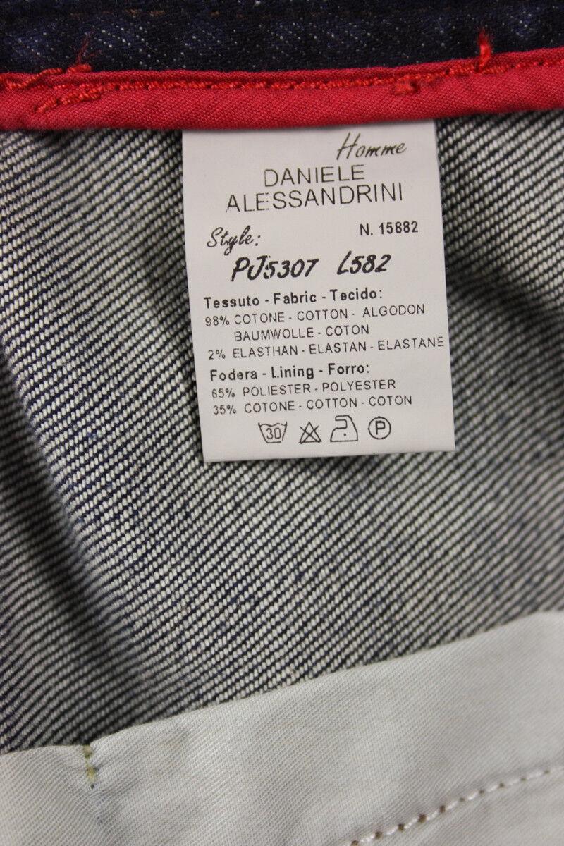 Superbe Noël sonné sonné, accueille les célébrations du Cotone nouvel an Jeans Daniele Alessandrini Jeans Cotone du   Denim PJ5307L582 1111 a7ccae