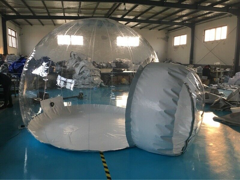 Inflatable Commercial Grade PVC Clear Eco Dome Camping Bubble Tent NEW
