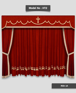 Image Is Loading Saaria Church Stage Hall Decor Curtains Valance Drapes