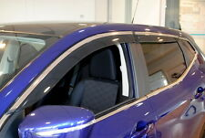 Nissan Qashqai 2014 Side Door Wind Deflectors Set of 4 New + Genuine KE8004E010