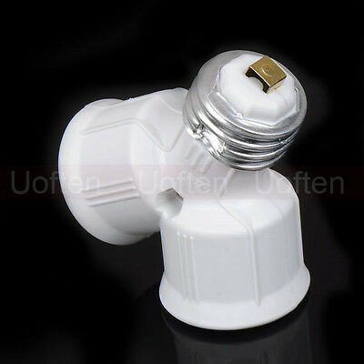 E27 to 2XE27 LED halogen CFL light bulb lamp adapters Converter Socket Splitter