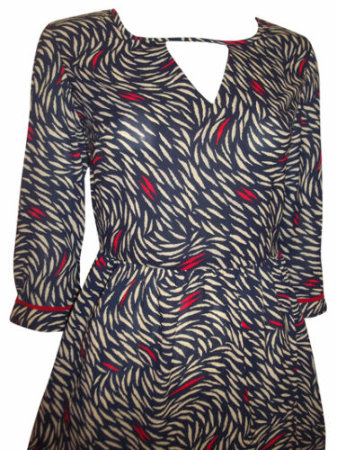 FREE POST. M/&S SKATER// TEA DRESS,NAVY WITH LEAF PRINT,TUNIC,.8,10,12,14,16,18