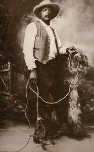 Ben Pickett, African American Black Rodeo & Wild West Show Cowboy Bill, Postcard
