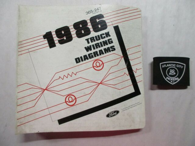 1986 Ford Truck Electrical Wiring Diagrams Manual  Ranger
