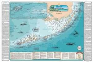 Printable Map Of Florida Keys.Details About Florida Keys Shipwreck Map Nautical Chart Art Poster Print