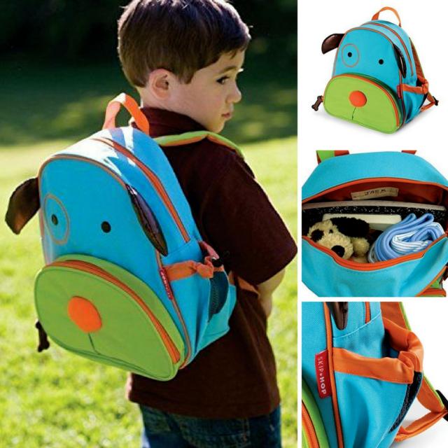 "Darby Dog Toddler Backpack Kids Insulated School Bag Boy Skip Hop Zoo 12/"" Color"