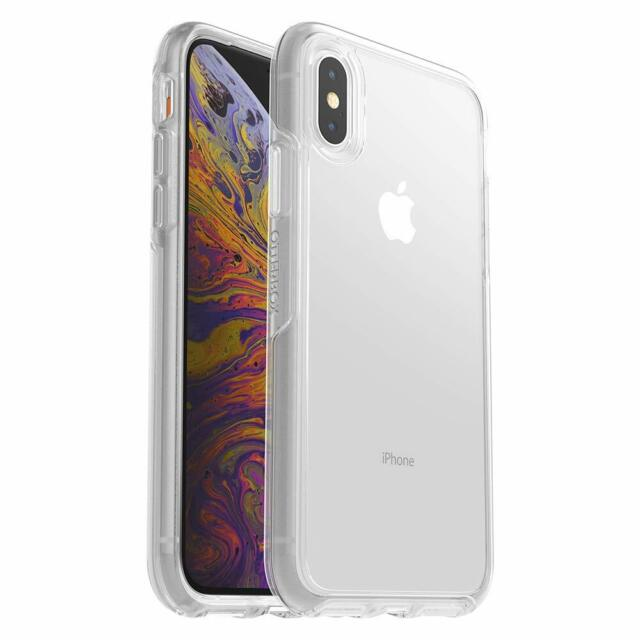 competitive price c7185 b232a OTTERBOX Symmetry for iPhone X & XS Ultra Slim Hard Clear Case With Alpha  Glass
