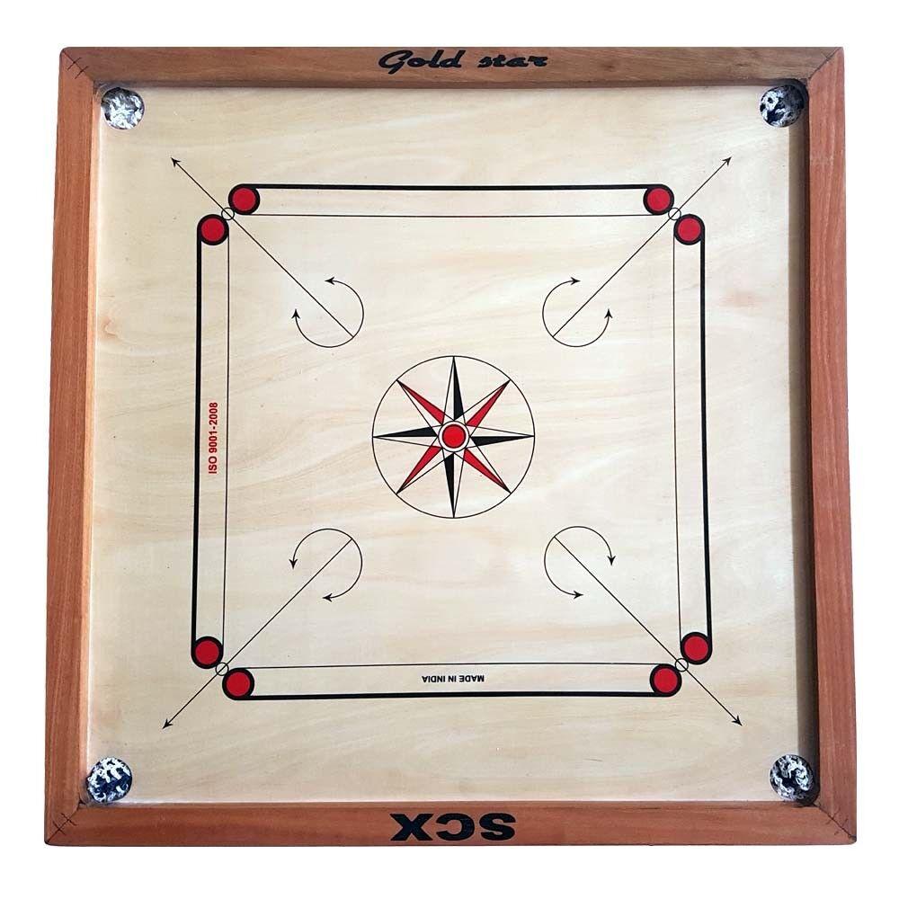 GAME gold STAR 4 MM FULL FULL FULL SIZE CARROM BOARD GAME CHU_0383 ddc2fd