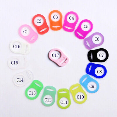 4x Silicone Ring Button Pacifier Holder Clip Dummy Adapter For MAM Style