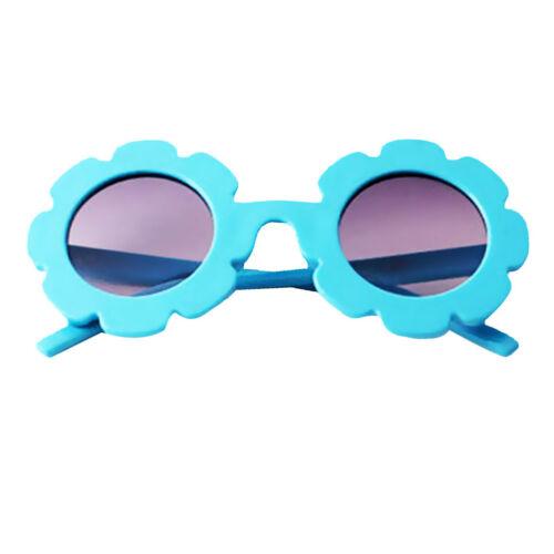 Stylish Baby Boys Girls Flower Round UV400 Sunglasses Infant Glasses Eyewear