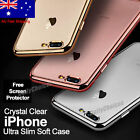 Ultra Slim Metal Bumper Silicone Gel Case Cover For Apple iPhone 7 Plus 6S 6