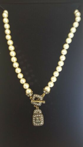 NEW Heidi Daus Always a Pleasure Beaded Necklace with Drop Crystal Pendant