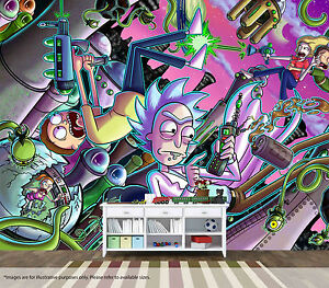 Rick and Morty Wall Mural Wall Art Quality Pastable Wallpaper eBay