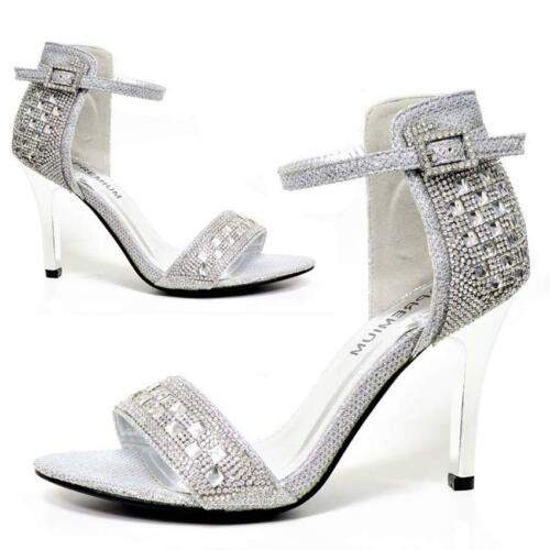WOMENS WEDDING SHOES LADIES HIGH HEELS BRIDAL BRIDESMAID PARTY DRESS SHOES SIZE