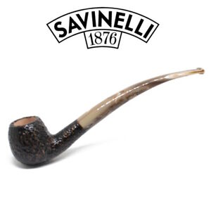 New-Savinelli-Ginger-039-s-Favourite-626-Rusticated-Pipe