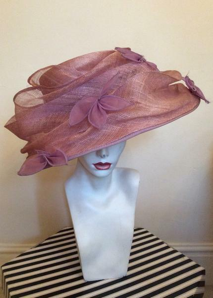 Occasions By Failsworth Millinery Dusky Pink & Lilac Formal Hat