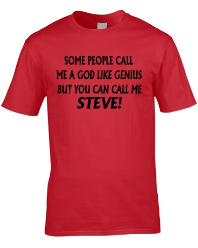 Steve T-Shirt Funny Birthday Personalise With Any Name Gift Present 30th 80th