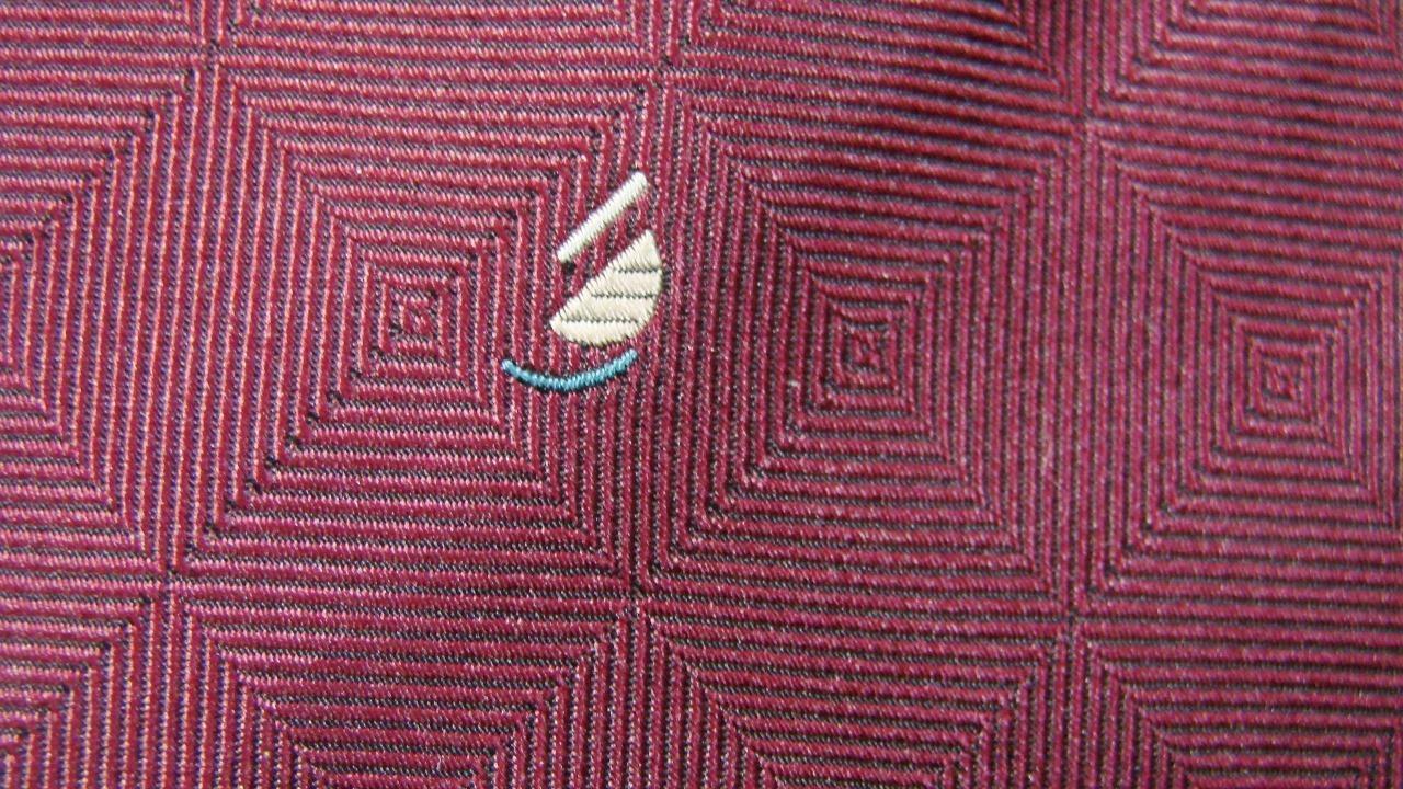 Botang 500 CM Dunkelrot Quadratisch Muster Seidenkrawatte Krawatte MOC0119A #P31