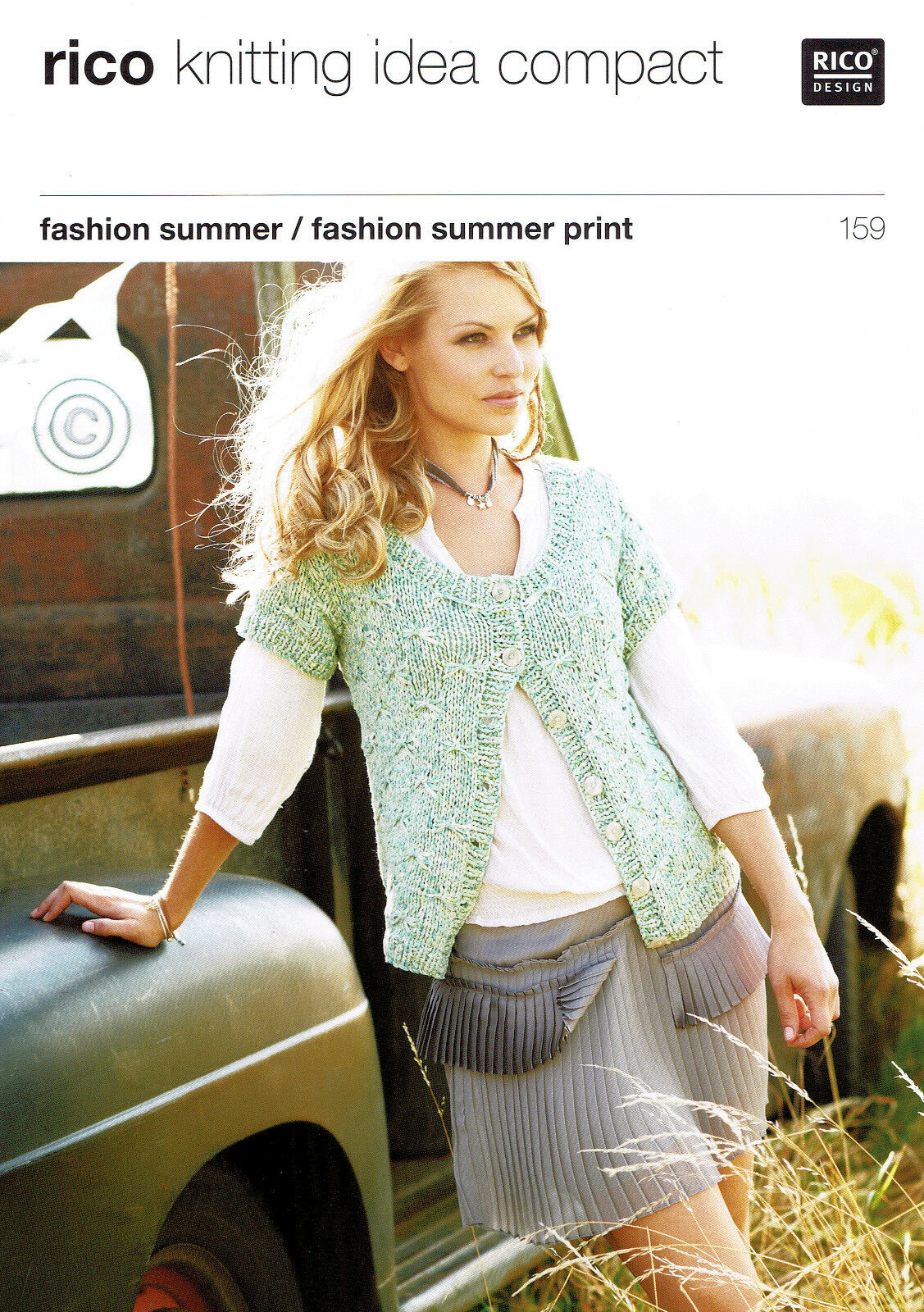 Knitting Pattern Rico 159 For Ladies Cardigans Using Rico Fashion Summer Yarn For Sale Online