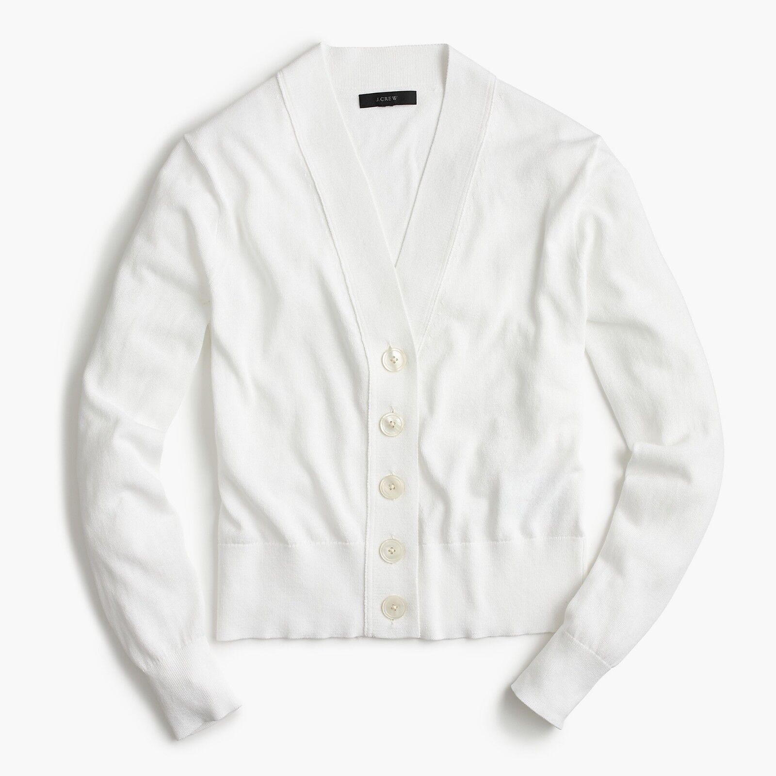 NWT J.Crew Cropped Lightweight Cardigan Sweater - - - White - Medium 567f74