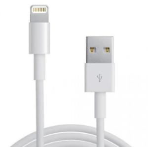Cable De Datos Usb Lightning 8 Pin ( Blanco 1m ) Iphone 5 5s