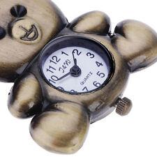 Funny Bronze Teddy Bear Key Ring Quartz Watch Men Boy Lady Girl Women Unisex
