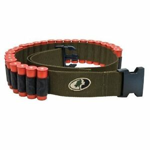 GREEN-mossy-oak-belt-shotgun-shell-holder-bandoleer-hunting-shooting-MO-SSB-GR