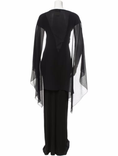 Stunning Nwt Black Jean Paul Gaultier Maxi Dress With Sheer Center Panel/Sleeves by Jean Paul Gaultier