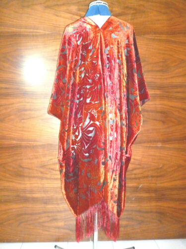 Velvet unstructured jacket Rich shades of orange  NEW Size to 28