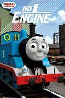 Thomas & Friends 1945 Engine 24x36 Cartoon Poster Tv Tank Train Railroad 1