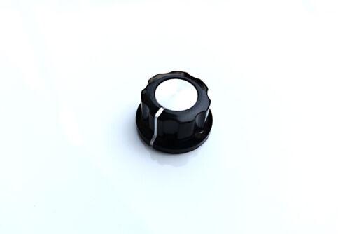 Potentiometer Drehknopf schwarz silber bakelit Ø 23x13mm Achse:6,35mm knob