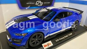 Maisto-1-18-Scale-2020-Ford-Mustang-Shelby-GT500-Blue-Diecast-Model-Car