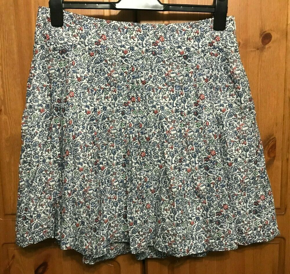 Fat Face Multi Colored Floral Jupe Taille Uk 12