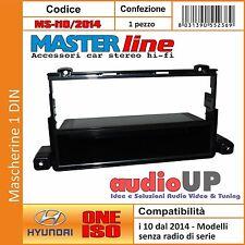 MASCHERINA AUTORADIO 1 DIN CON CASSETTO HYUNDAI I10 2014  SENZA RADIO DI SERIE.