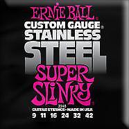 ERNIE BALL - 2248 - Stainless Steel Super Slinky - Italia - ERNIE BALL - 2248 - Stainless Steel Super Slinky - Italia