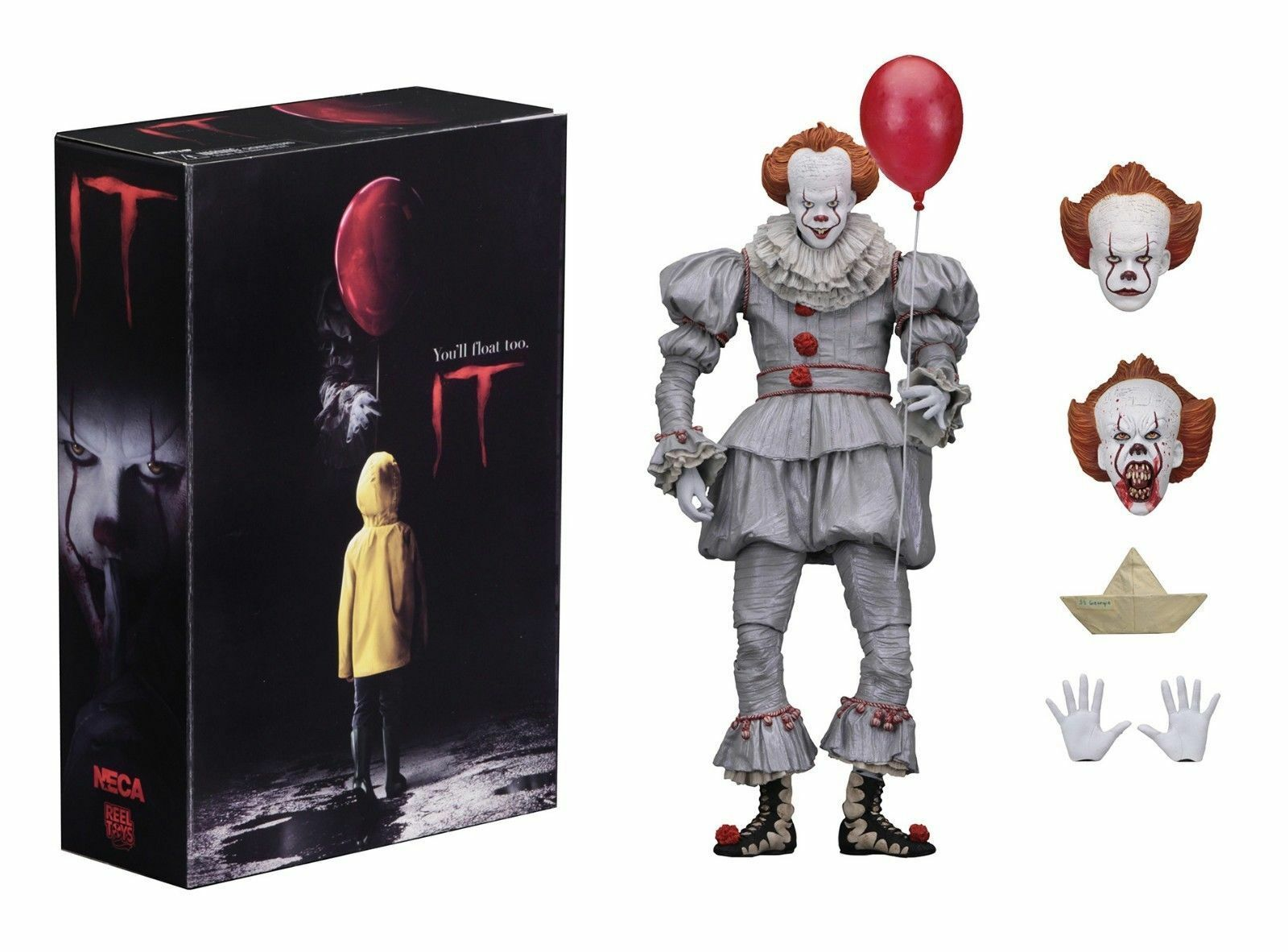 Stephen King IT Action Figure Ultimate Pennywise Bill Skarsgård 2017 Movie NECA