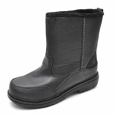 G.H. Bass STONE Black Thermolite Water Resistant Slip-On Boots Men's 9 - NEW