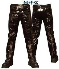 "MISFITZ MENS  BLACK PVC BONDAGE JEANS  SIZES 26""- 48"" PUNK BIKER GOTH FETISH"
