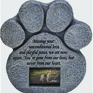 Pet-Dog-Picture-Grave-Memorial-Stone-Paw-Print-Cat-Plaque-Marker-Headstone-Gift
